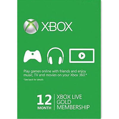 Xbox Live Gold Membership 12 Month Subscription Code Instantly