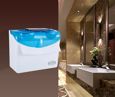 Blue+White Wall Mounted Bathroom Waterproof Toilet Roll Paper Tissue Box Holder
