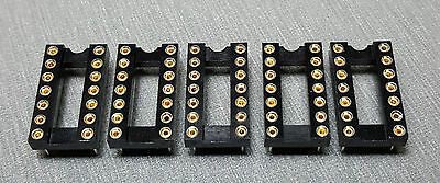 """14 Pin (0.3"""") DIL Machined Pin IC Socket Pack of 5"""