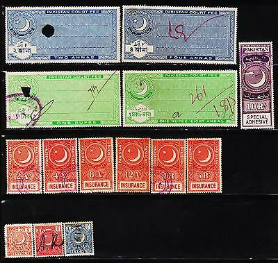 Pakistan 14 Different Used Fiscal Stamps Lot #111