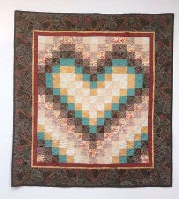 Handmade Patchwork Wall Quilt, Warm Country Heart