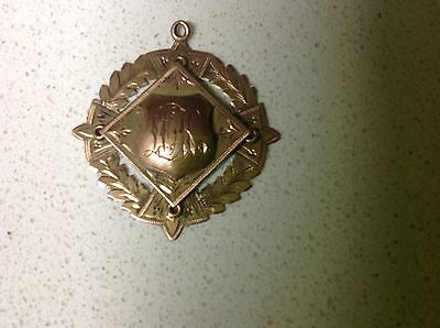 1913 Australian Made Gold Prize Fob C.& BC.S