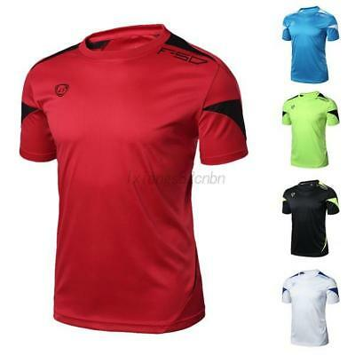 Mens Quick Dry Stretch T-Shirt Casual Sport Fitness Gym Short Sleeve Tops Shirt