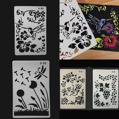 Drawing Stencil Template for Arts Craft Lace Flower & Vine Album Stamping Mold