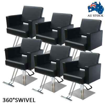 6pcs Salon Cut Hairdressing Chair Hydraulic Lift Style Colour Barber Furniture