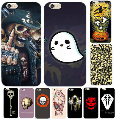 Funny Horrible Halloween Skull Print Hard Phone Case Cover for iPhone 5 6/7 Plus