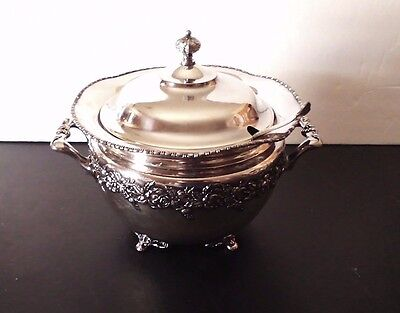 Vintage Victor Silver Co. #3709 Soup Tureen with Ladle