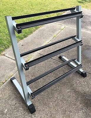 Dumbbell Rack/Stand 'Bodymotor' brand Powdercoated Steel 100cm (w) x 93cm (h)