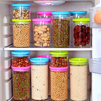 New Clear Storage Jar Portable Containers Food Fruit Storage Boxes PVC 3Colors .