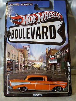 Hot Wheels '57 Chevy Bel Air ,boulevard Series, Real Rider Wheels