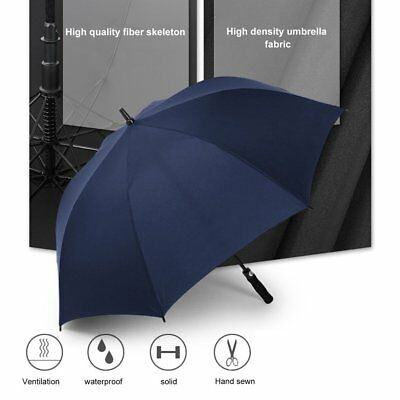 Automatic Super Large Umbrella Long Straight Handled Strong Windproof Umbrel FG