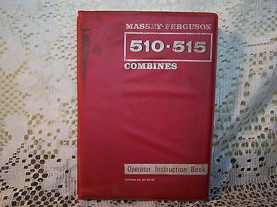 Massey Ferguson Combines 510 115 Operator Instruction Book Service Tractor