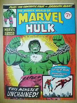 COMICS- Mighty World of MARVEL Starring the INCREDIBLE HULK- No.95, 27 July 1974