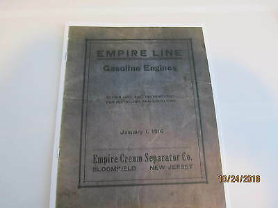 Empire Line Hit and Miss Gas Engine  Manual Cream Separator Co Reprint