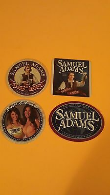 Beer coasters, 4 different Sam Adams (group 4G)