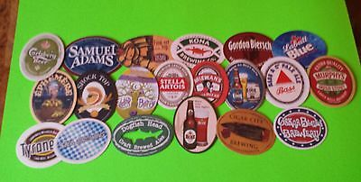 Beer coasters, 20 different oval shaped.  (Group 20 B)