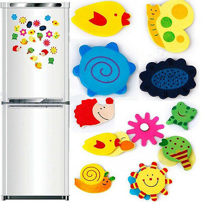 24PCS New Cute Animal Wooden Magnet Fridge Refrigerator Sticker Baby Kid Toys
