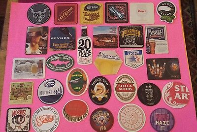 Beer coasters, lot of 30 different. (group 30G)