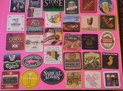 Beer coasters, lot of 30 different.(group 30F)