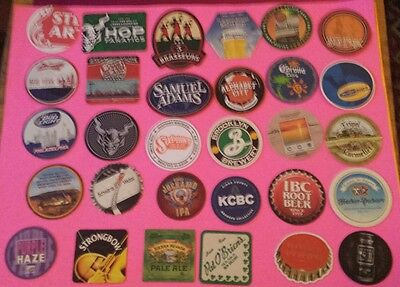 Beer coasters, lot of 30 different. (group 30E)