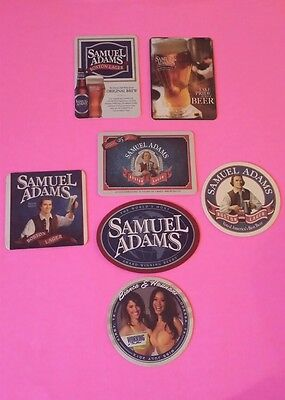 Beer coasters, lot of 7 different Sam Adams (group 7B)