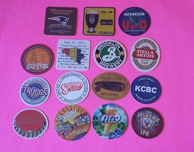 Beer coasters, lot of 15 different. (group 15L)