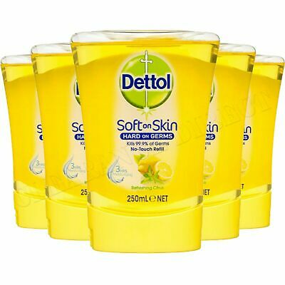 6 x Dettol Liquid Soap Moisture Hand Wash Grapefruit 250ml