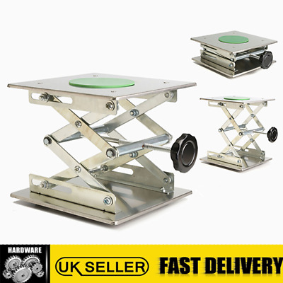 8'' 20x20cm Stainless Steel Lift Countertop Lifting Platform Jack Lab Laboratory