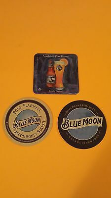 Beer coasters, 3 different Blue moon ( group 3B)