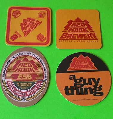 Beer coasters, 4 different Red Hook ( Group 4 C)