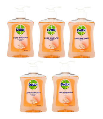 6 x Dettol No Touch Hand Wash Refills Grapefruit 250ml