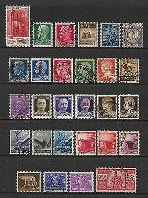 ITALY - mixed collection No.12, early incl Social Republic & opts