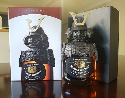 GOLD & GOLD NIKKA JAPANESE WHISKY - SAMURAI 750ml 43%vol RARE FREE POSTAGE