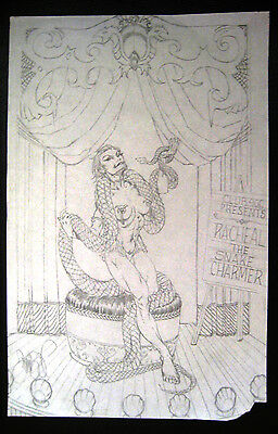 Tim Vigil Original Art C161 Snake Charmer BIG Faust