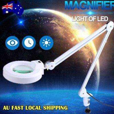 Bright Magnifying Lamp LED 5 Inch SMD 5 Diopter magnifier desk light White 5X AU