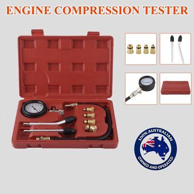Petrol Engine Compression Test Tester Kit Set For Automotive Car Brass Tool Oz