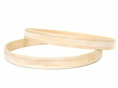 Pair of Birch Bass Drum Hoops, Routed Inlay Recess Natural Finish 16,18,20 or 22