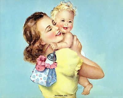 Charlotte Becker Mother's Pal Baby and Mama 8 x 10 Repro Print
