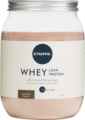 STRIPPD Whey Lean Protein Chocolate Flavour 490g RRP £20 BBE April 18