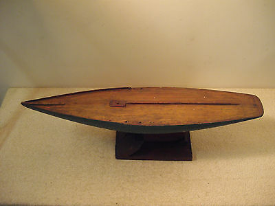 Antique Hand Made Wooden Sail Boat From The 1920's