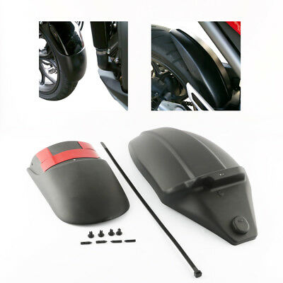 Rear+Front Mudguard Fender Rear Extender Extension For Honda NC700X NC750S 12-15