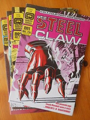 The Steel Claw - 4 Issues Complete run
