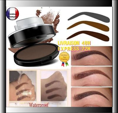 Tampon Poudre à Sourcils Eyebrow Ombre  Pochoir Maquillage crayon  W07