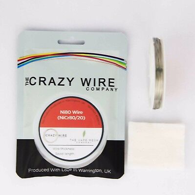 0.42mm (26 AWG) -Comp Ni80 (Nickel Chrome 80/20 ) Wire - 7.87 ohms/m