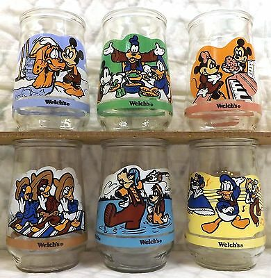 The Spirit of Mickey Series Disney Welch's Jelly Set of 6 Glasses