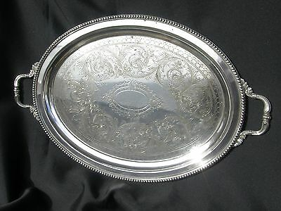 1911 Railway Inscribed, Heavy Silver Plate Presentation Tray, Great Central.