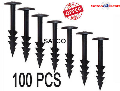 """100pcs 6"""" FABRIC PEGS FIXING ANCHOR WEED CONTROL LANDSCAPE MEMBRANE FLEECE NEW"""
