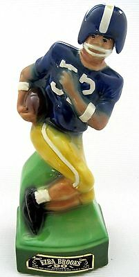 Vintage 1974 Ezra Brooks FOOTBALL Player #32 Heritage China DECANTER Empty