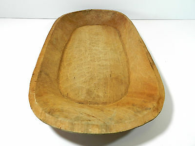 Antique Wood Dough Bowl Treen 30""