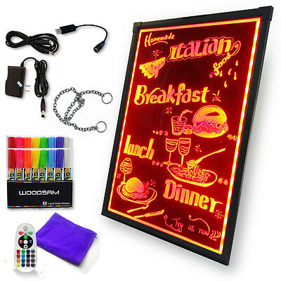 32X24 Erasable Flashing Illuminated Menu Sign LED Writing Message Board W Remote